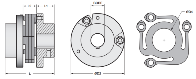 Bolted Style Control Flex Coupling