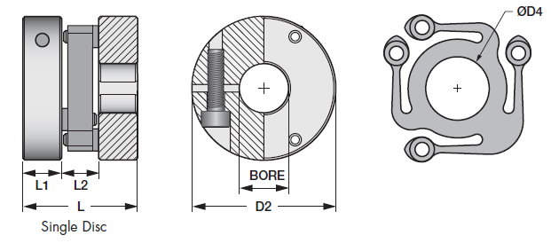 Single Disc Control Flex Couplings