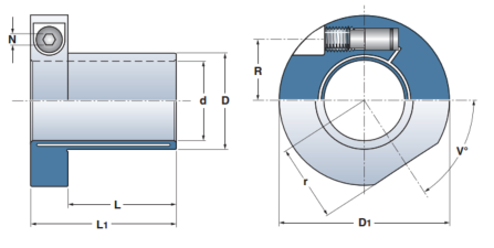drawing of etp express keyless shaft bushing